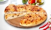 Осетинские пироги с курицей, сыром и зеленым луком